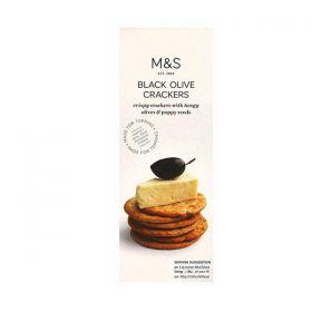 M & S - Black Olive Crackers (150g)